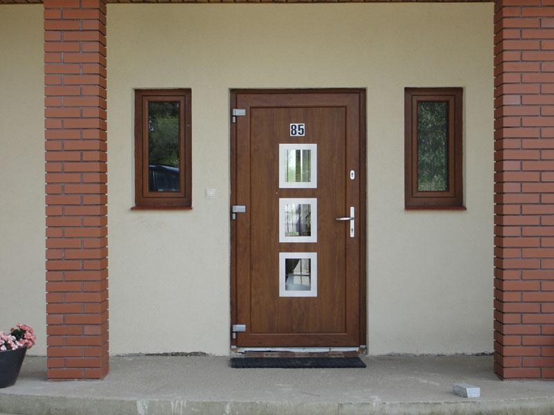 пвх двери входные частный дом